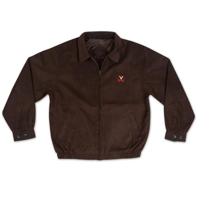 UVA Cutter & Buck Saber Suede City Bomber Jacket