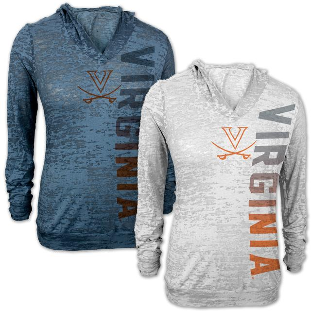 UVA Vertical Burnout Ladies Hoody