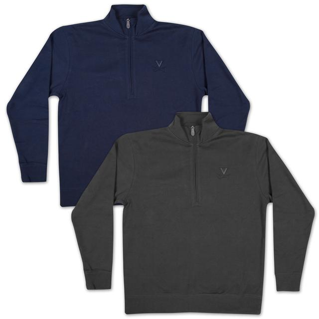 UVA Swank Textured Quarter Zip Fleece