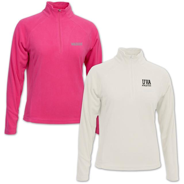 UVA Glaze Ladies Quarter Zip Fleece