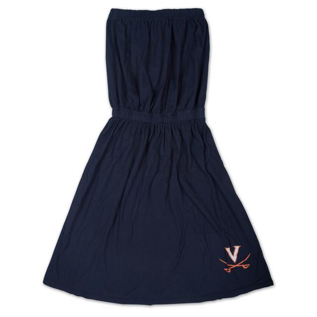 UVA Ladies Strapless Dress