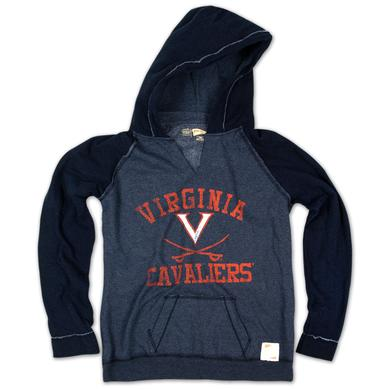 UVA Ladies Raw Edge 2Tone Hoody