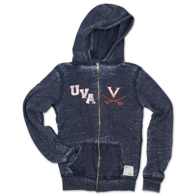 UVA Ladies Burnout Full Zip Hoody