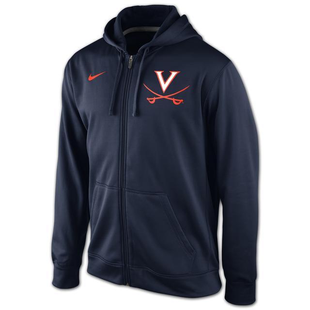 UVA Nike KO Logo Full Zip Hoody