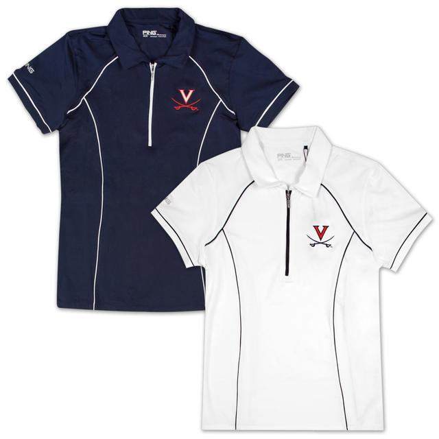 UVA PING Ladies Front Quarter-Zip Polo