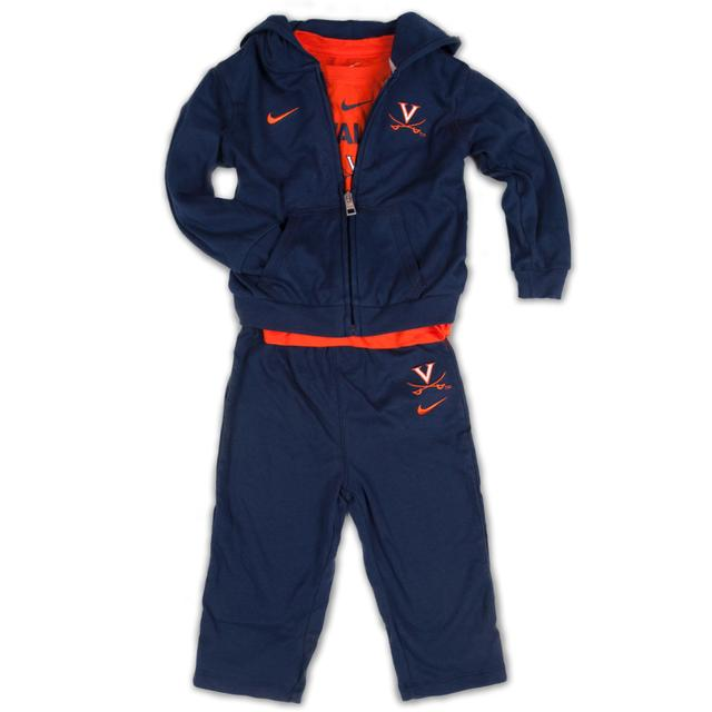 UVA Infant Tee/Hoody/Pant Set