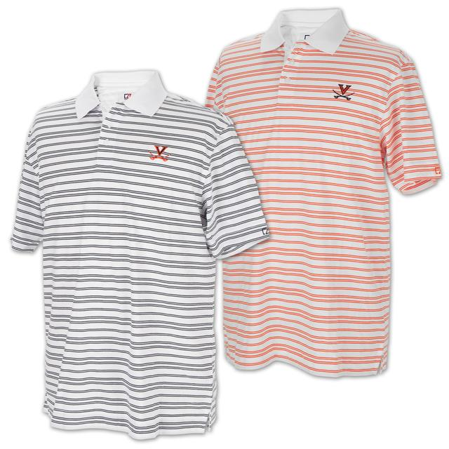 UVA Extra Point Striped Polo