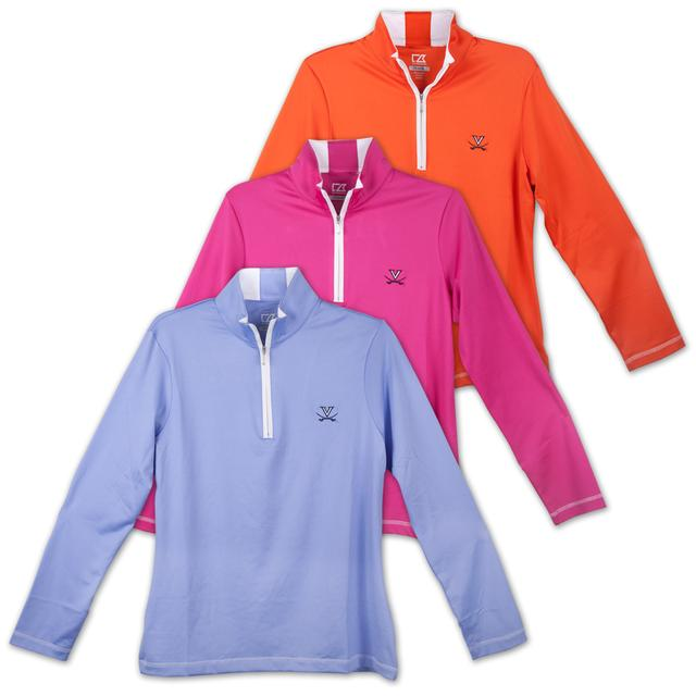UVA Drytec Choice Zip Mock Ladies Top