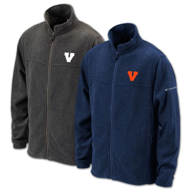 UVA Columbia Flanker II Full Zip Fleece