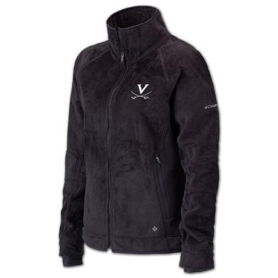 UVA Columbia Ladies Pearl Plush Full Zip Fleece