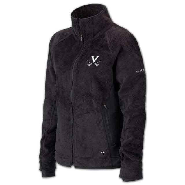 UVA Columbia Ladies Pearl Plush Full Zip Fleece