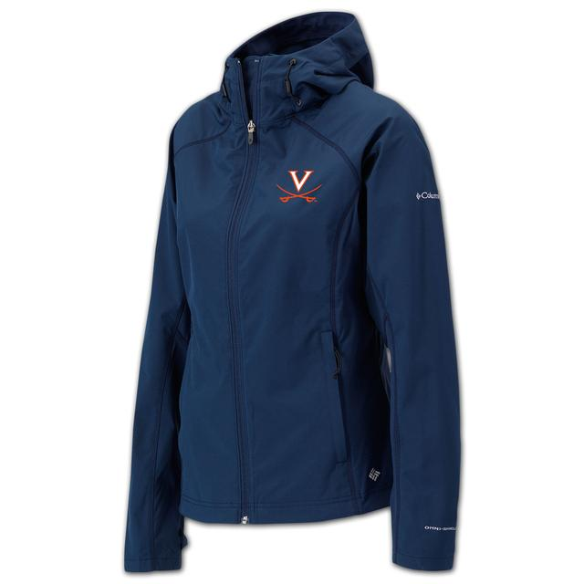 UVA Columbia Ladies Sunfire Full Zip Softshell Jacket