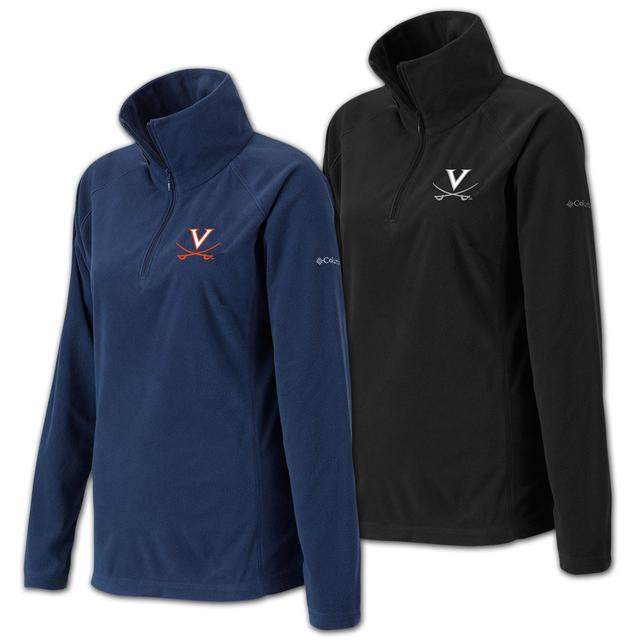 UVA Columbia Ladies Glacial Half Zip Fleece