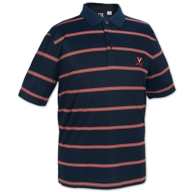 UVA Cutter & Buck DryTec Embossed Tackle Polo