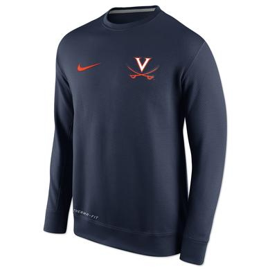 UVA Nike KO Chain Fleece Crew