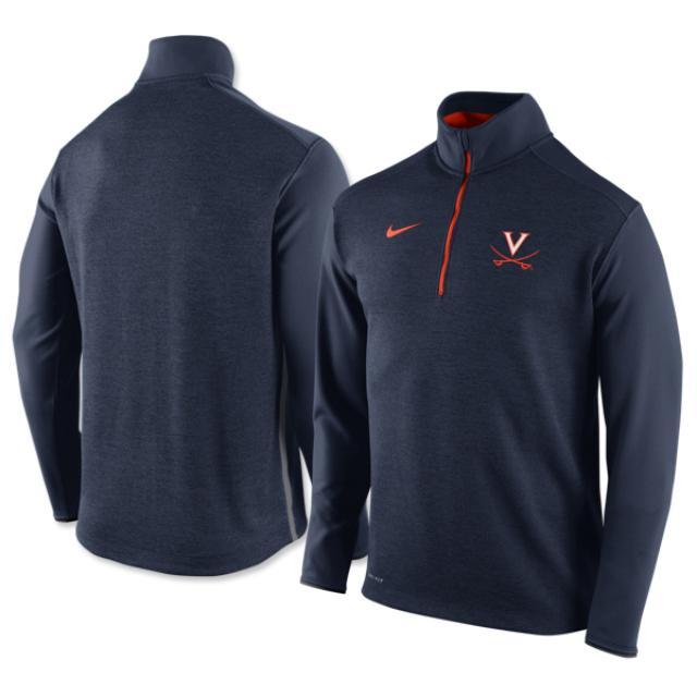 UVA Nike Coaches Zip Knit Top