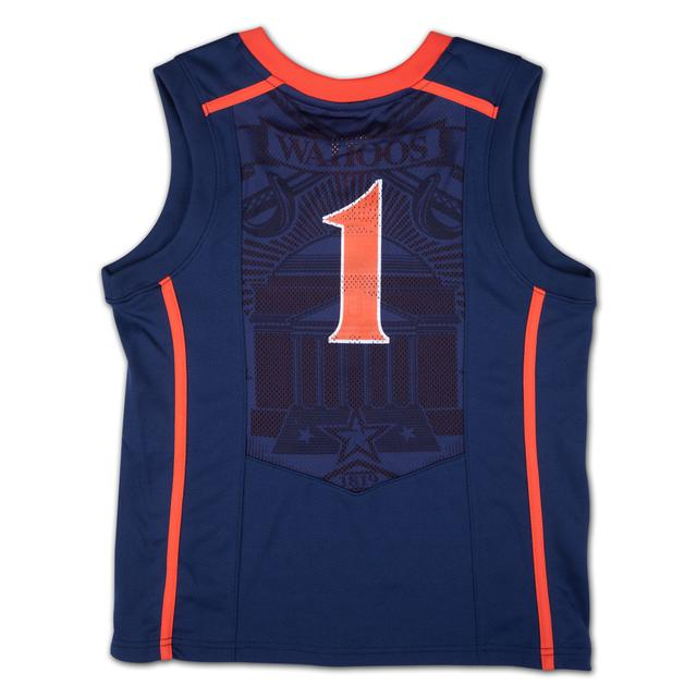 UVA Youth Nike Replica Basketball Jersey #1 Navy