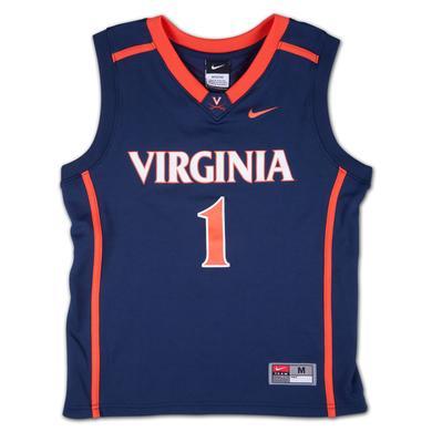 UVA Youth Nike Replica Basketball Jersey #1 Navy
