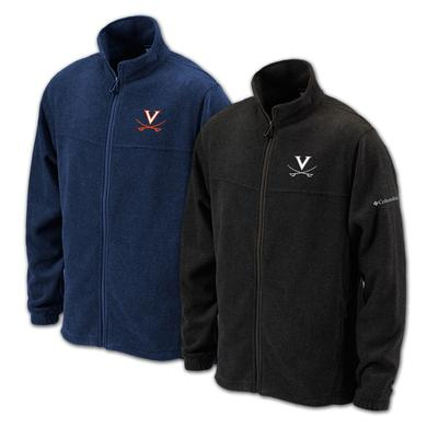 UVA Columbia Colegiate Flanker Full Zip Fleece