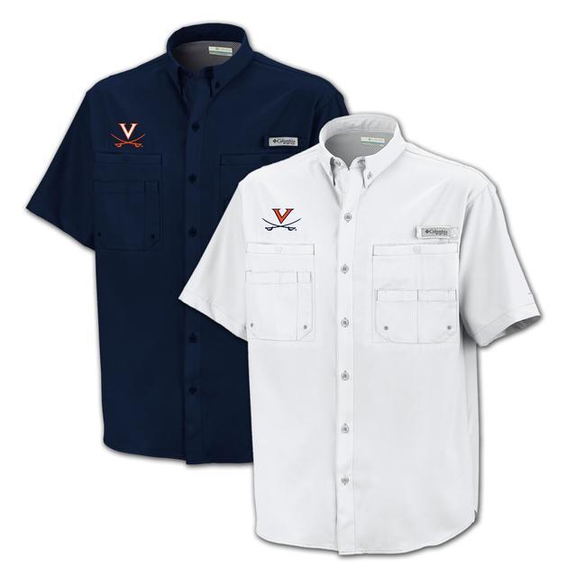 UVA Columbia Tamiami Short Sleeve Shirt