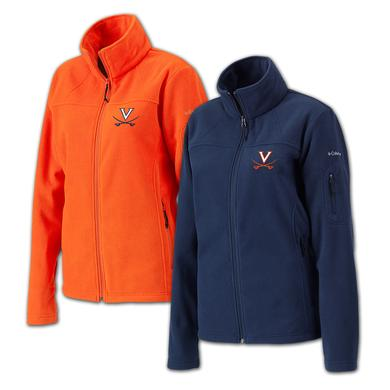 UVA Columbia Ladies Give & Go Full Zip Fleece