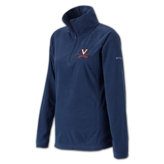 UVA Columbia Ladies Glacial Half Zip Fleece