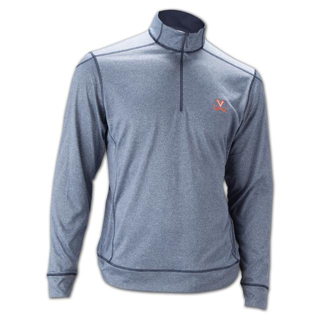 UVA Athletics Cutter & Buck Drytec Green Lake Performance Half Zip