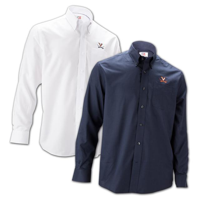 UVA Athletics Cutter & Buck Nailshead Button-Down Shirt