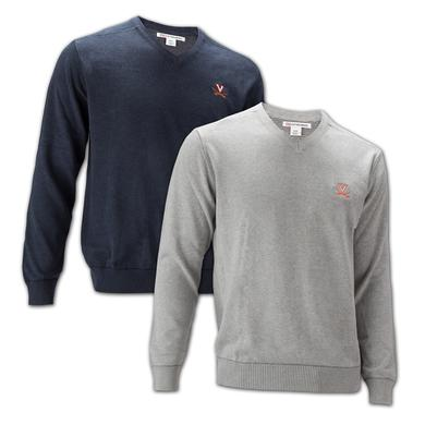 UVA Athletics Cutter & Buck Broadview V-Neck Sweater