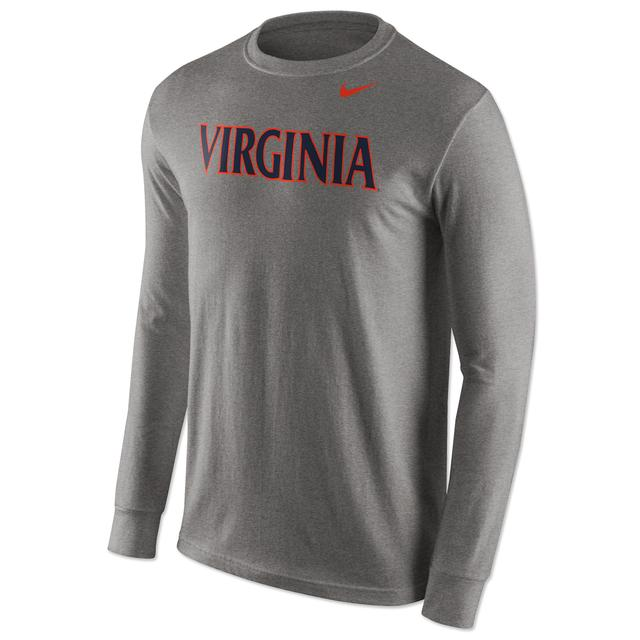 UVA NIKE Wordmark LS Cotton T-Shirt