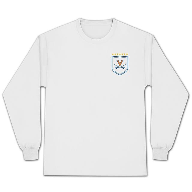 UVA Men's Soccer 7-Star Crest Premium Jersey Knit LS T-Shirt