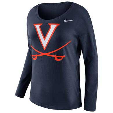 NIKE UVA Ladies Tailgate Long Sleeve Top