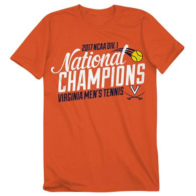 UVA Athletics University of Virginia Tennis 2017 NCAA Champions T-shirt