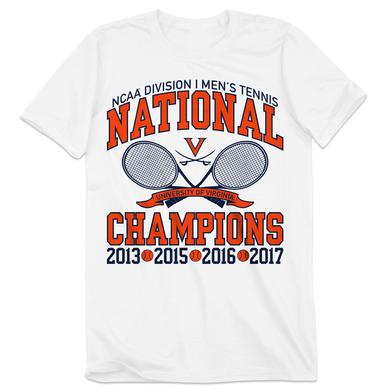 UVA Athletics University of Virginia Tennis 4-Time NCAA Champions T-shirt