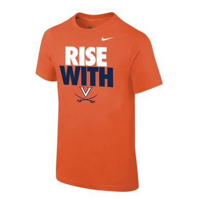 UVA Athletics University of Virginia Rise With Youth T-shirt