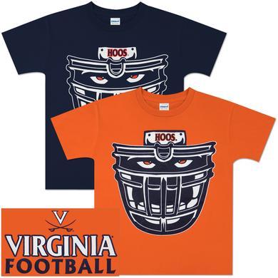 UVA Hoos Football Face Youth T-shirt