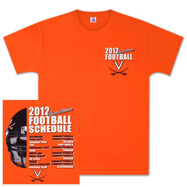 UVA 2012 Football Schedule T-shirt