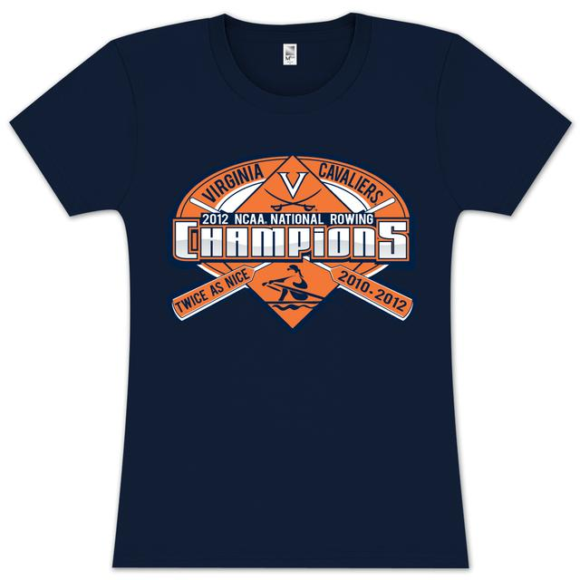 UVA 2012 NCAA Rowing Champs Ladies T-Shirt