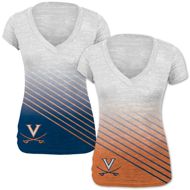 UVA Diagonal Stripe Ladies T-shirt