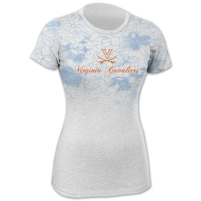 UVA Floral Blue Fade T-shirt