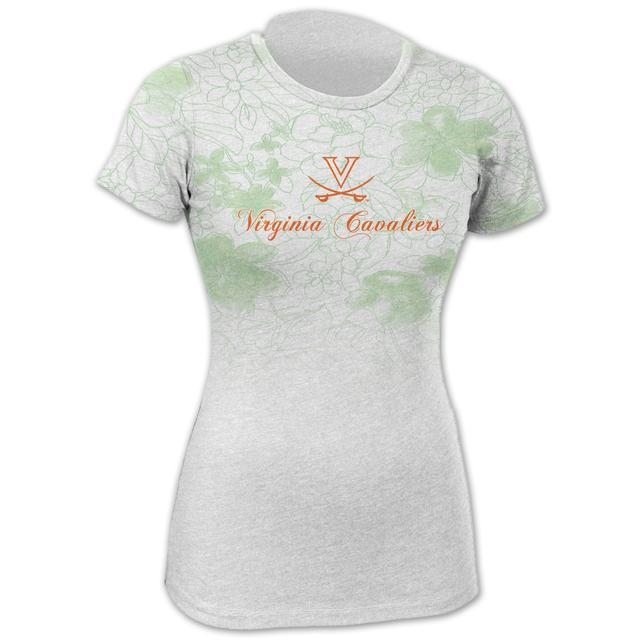 UVA Floral Green Fade T-shirt