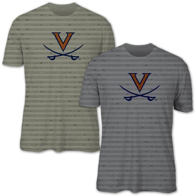 UVA Team Wahoowa Striped T-shirt