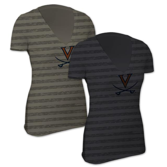 UVA Little Stripes Sport Ladies T-Shirt