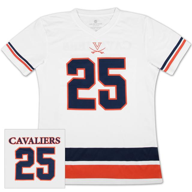 UVA #25 Football Ladies Jersey T-Shirt