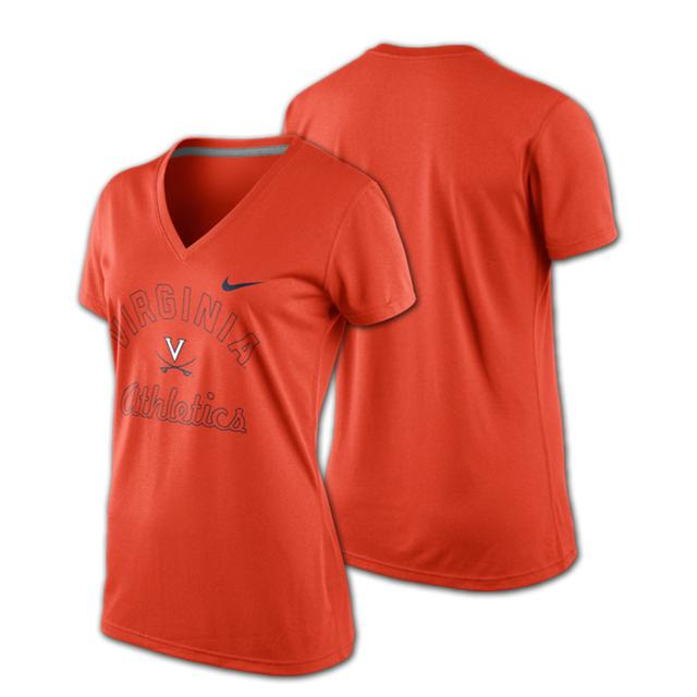 UVA Nike Ladies Legend V-neck T-shirt