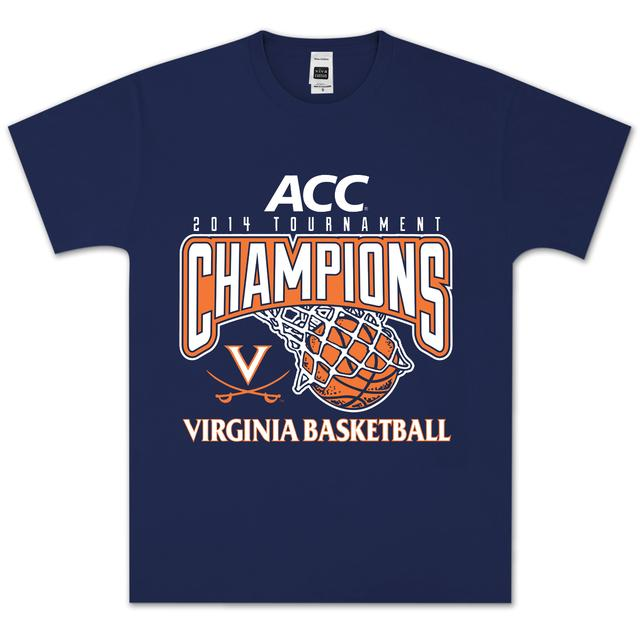 UVA 2014 ACC Tournament Champions Basket T-Shirt