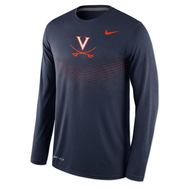 UVA Nike Legend Sideline LS T-Shirt
