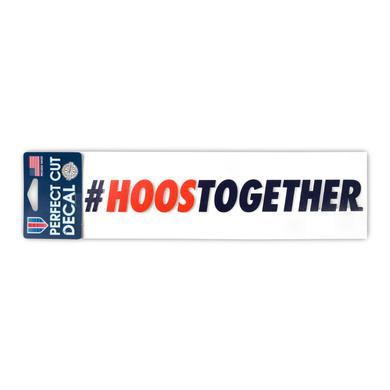 "UVA Athletics University of Virginia #HOOSTOGETHER Perfect Cut Decal - 3"" x 10"""