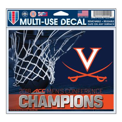 UVA Athletics University of Virginia 2018 ACC Champs Multi-Use Decal