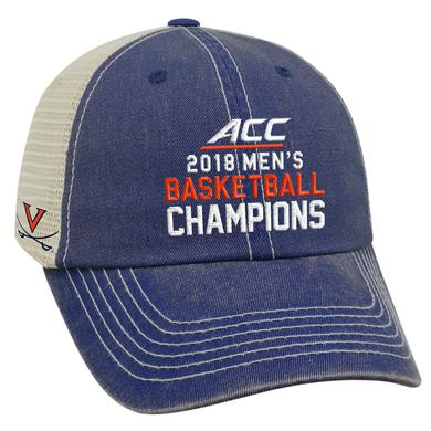 UVA Athletics University of Virginia 2018 ACC Champions Trucker Hat